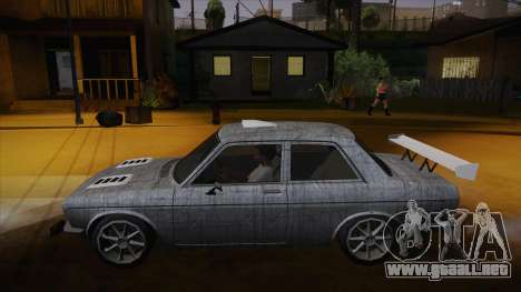 Datsun 510 RB26DETT Black Revel para GTA San Andreas interior