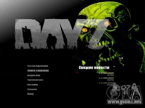 El menú de la MTA en ruso para GTA San Andreas