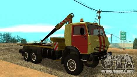 Grúa 43114 KAMAZ para GTA San Andreas left