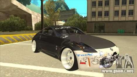 Nissan 350z SimpleDrift para GTA San Andreas left