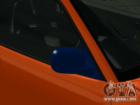 Nissan Skyline R-34 para GTA San Andreas vista hacia atrás