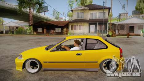 Honda Civic 1998 Tuned para GTA San Andreas left