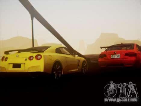 Nissan GT-R R35 Spec V 2010 para visión interna GTA San Andreas