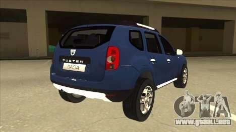 Dacia Duster 2014 para la visión correcta GTA San Andreas