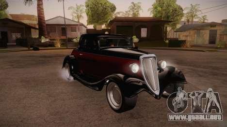 Hot Rod Extreme para GTA San Andreas vista hacia atrás