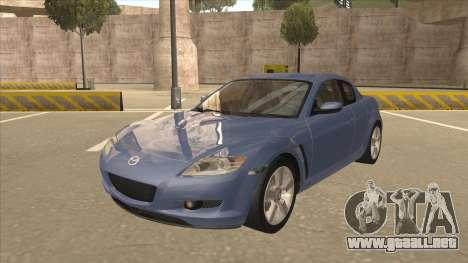 Mazda RX8 Tunable para GTA San Andreas