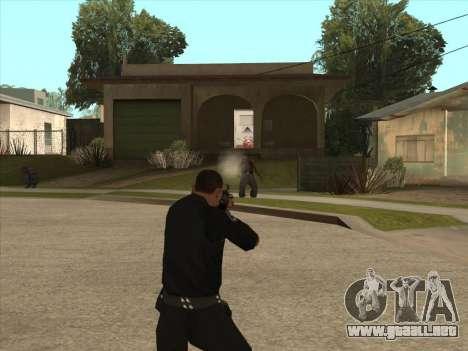 AKMS con bayoneta-cuchillo para GTA San Andreas tercera pantalla