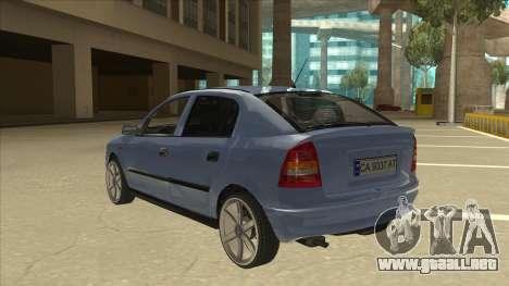 Opel Astra G Stock para GTA San Andreas vista hacia atrás