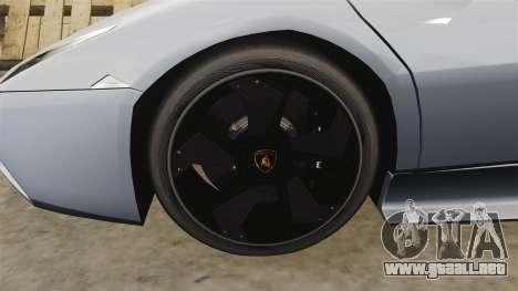 Lamborghini Reventon Roadster 2009 para GTA 4 vista hacia atrás