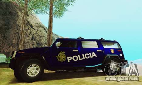 Hummer H2 G.E.O.S. para GTA San Andreas left