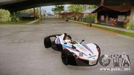 BAC Mono 2011 para la vista superior GTA San Andreas