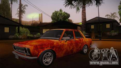 Datsun 510 RB26DETT Black Revel para la vista superior GTA San Andreas