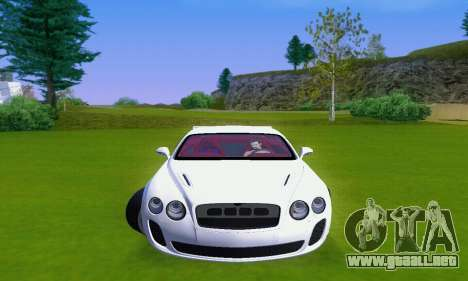 Bentley Continental Extremesports para GTA San Andreas left