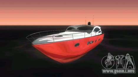 Cartagena Delight Luxury Yacht para GTA Vice City vista lateral