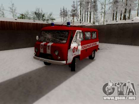 UAZ 452 Fire Staff Penza Russia para GTA San Andreas interior
