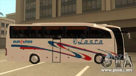 Mercedes-Benz Lasta Bus para GTA San Andreas vista posterior izquierda