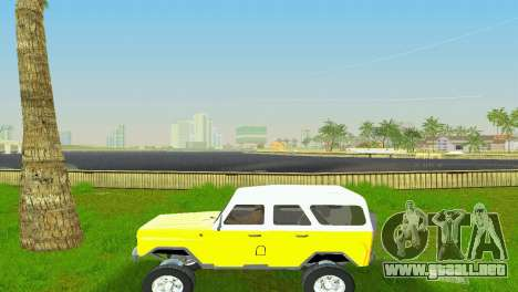 UAZ 3151 para GTA Vice City vista posterior