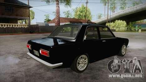 Datsun 510 RB26DETT Black Revel para la visión correcta GTA San Andreas