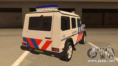 European Emergency Mercedes-Benz G 2008 para la visión correcta GTA San Andreas