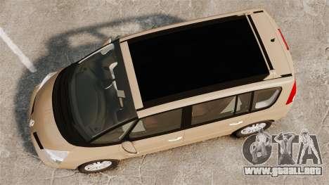 Renault Espace IV Initiale para GTA 4 visión correcta