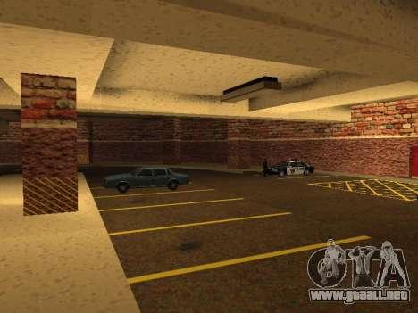 Nuevo garaje interior policía HP para GTA San Andreas séptima pantalla