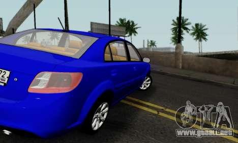 Kia Rio para la visión correcta GTA San Andreas