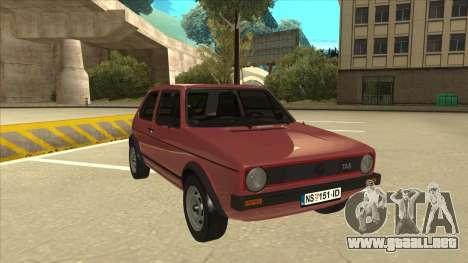 Volkswagen Golf 1 TAS para GTA San Andreas left