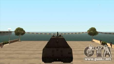 Panzerkampfwagen VIII Maus para GTA San Andreas sucesivamente de pantalla