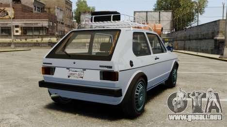 Volkswagen Golf MK1 GTI Rat Style para GTA 4 Vista posterior izquierda