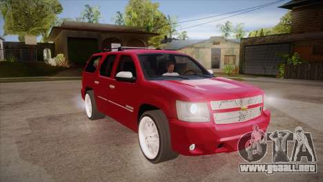 Chevrolet Tahoe LTZ 2013 Custom para GTA San Andreas vista hacia atrás