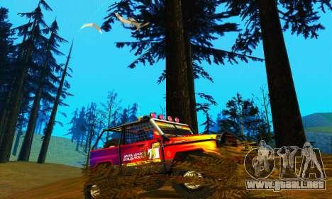 UAZ Hunter juicio para GTA San Andreas vista posterior izquierda