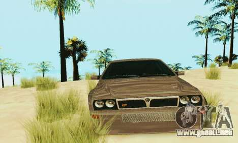 Lancia Delta HF Integrale para visión interna GTA San Andreas
