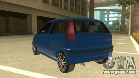Fiat Punto MK1 Tuning para GTA San Andreas vista hacia atrás