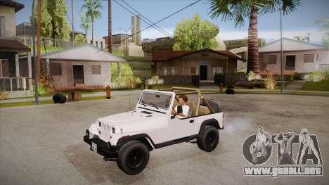 Jeep Wrangler V10 TT Black Revel para visión interna GTA San Andreas