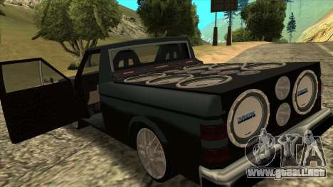 NEW Bobcat para GTA San Andreas vista posterior izquierda