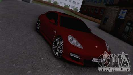 Porsche Panamera para GTA San Andreas vista posterior izquierda