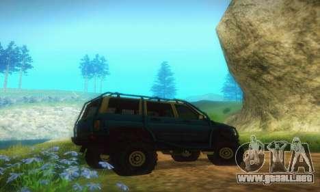 UAZ Patriot para GTA San Andreas vista hacia atrás