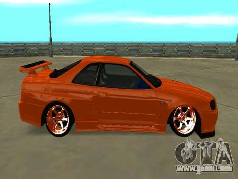 Nissan Skyline R-34 para GTA San Andreas left