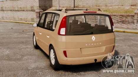 Renault Espace IV Initiale para GTA 4 Vista posterior izquierda