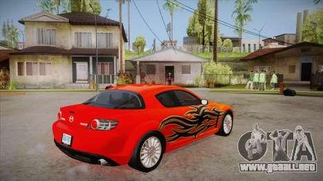 Mazda RX8 Tunnable para la visión correcta GTA San Andreas