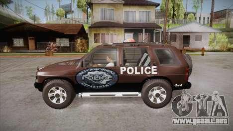 Nissan Terrano RB26DETT Police para GTA San Andreas left