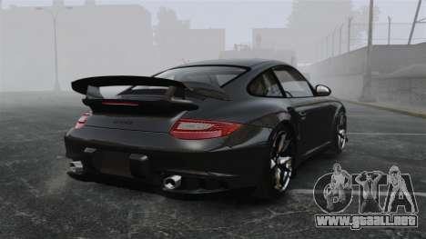 Porsche 997 GT2 2012 Simple version para GTA 4 Vista posterior izquierda