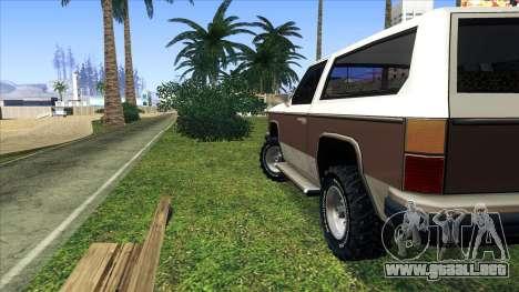 Rancher Bronco para la visión correcta GTA San Andreas