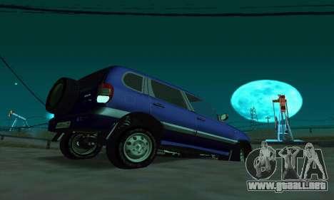 21236 Chevrolet Niva VAZ para GTA San Andreas vista posterior izquierda