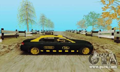 Taxi mercenarios 2 para GTA San Andreas vista hacia atrás