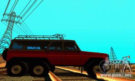 UAZ 31514 6 x 6 para GTA San Andreas left