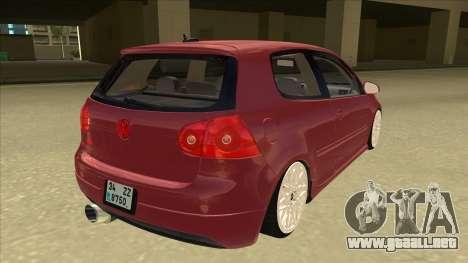 Volkswagen Golf V para la visión correcta GTA San Andreas