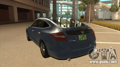 Honda Crosstour 2012 para GTA San Andreas vista hacia atrás