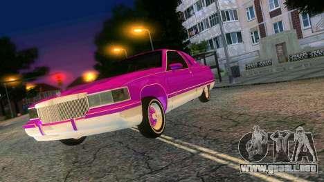 Cadillac Fleetwood Coupe para GTA Vice City vista posterior