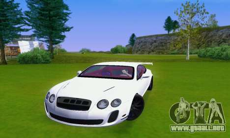 Bentley Continental Extremesports para GTA San Andreas